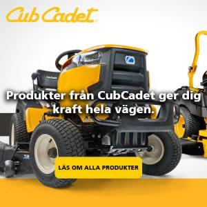 Köp trädgårdsaskiner från Cub Cadet på Verkstan i Öxnered